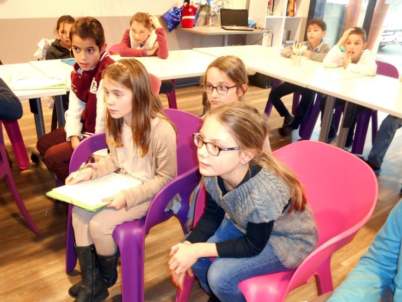 Les enfants étaient très attentifs
