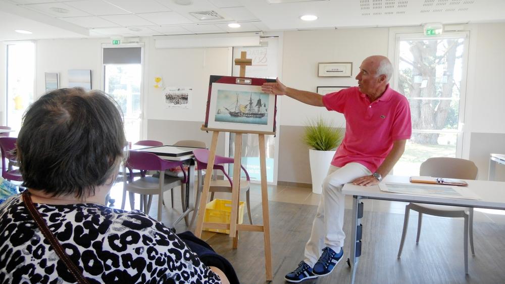L'art marin de M. Biard s'expose aux Prairies de l'Ille