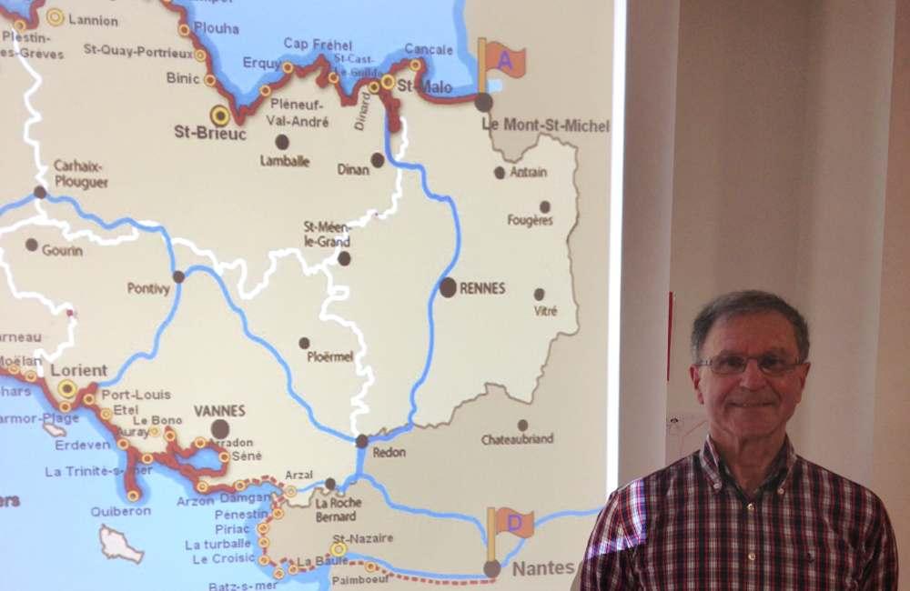 « Tour de Bretagne à pieds» : conférence sur une belle aventure à Guidel : conférence sur une belle aventure à Guidel