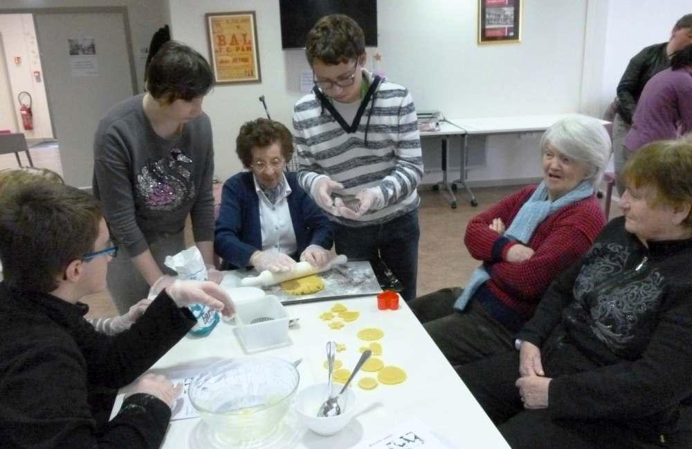 Atelier de cuisine avec les élèves du collège Saint-Vincent