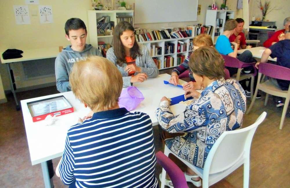 Dernière visite des collégiens de Saint-Vincent au Petit Jardin