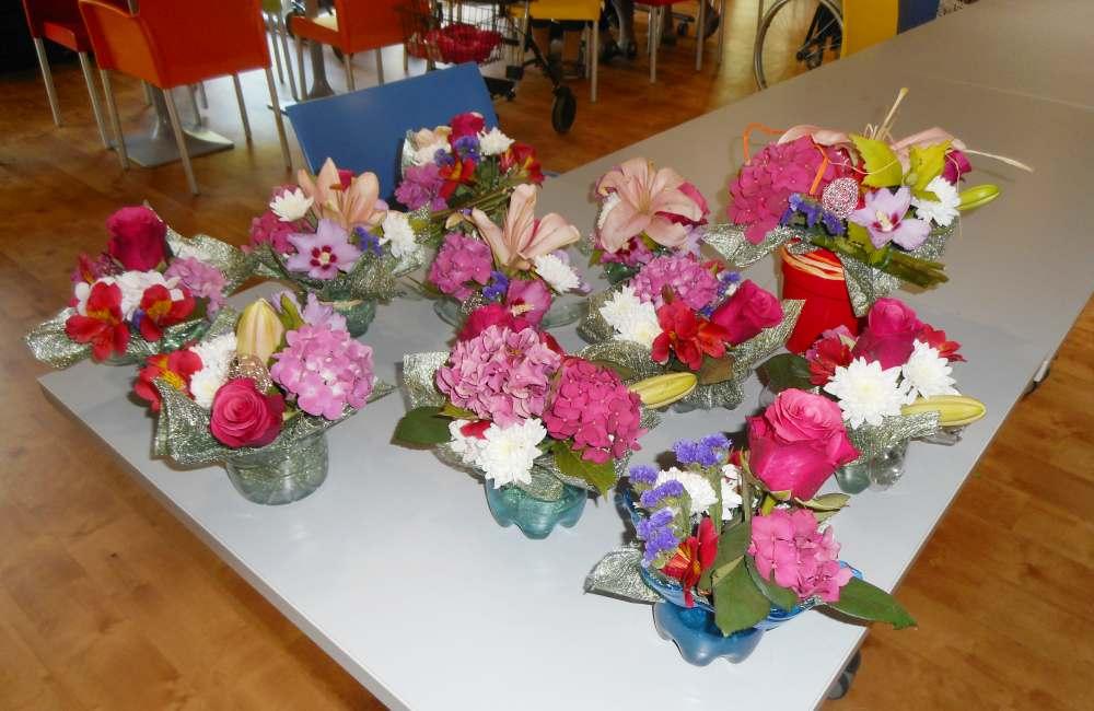 Atelier d'art floral au Clos de la Bade