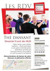 résidence seniors espace et vie rennes bellangerais thé dansant danses logement services