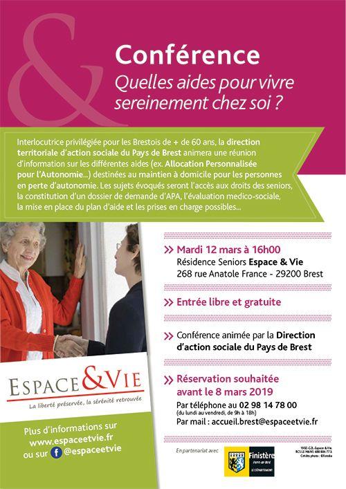 Espace & Vie BREST Conference APA Affiche web