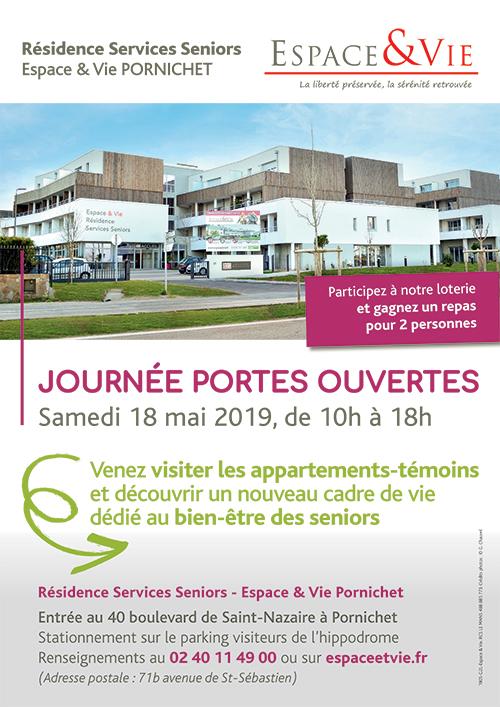 affiche journée portes ouvertes Espace & Vie Pornichet