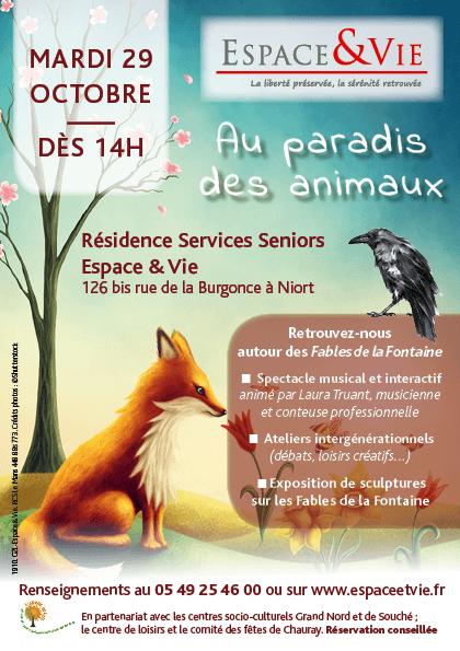 au paradis des animaux affiche Niort