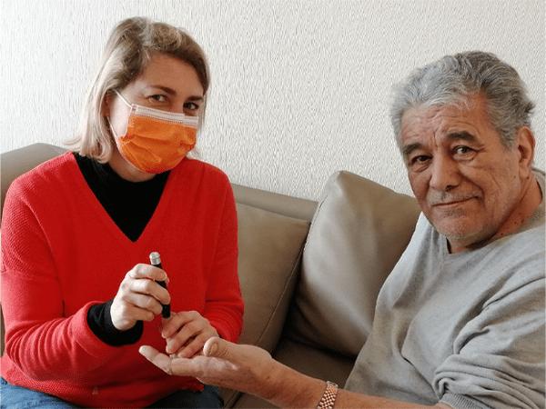 Patient et infirmière de Rennes